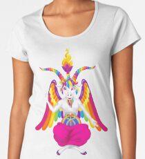 1997 Neonregenbogen Baphomet Frauen Premium T-Shirts