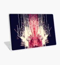 Pink and Navy Blue Abstract Watercolor Paint Drips Laptop Skin