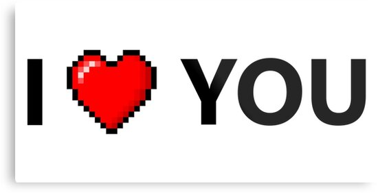 df14b283774 I LOVE YOU - Geek - 8 Bit Heart