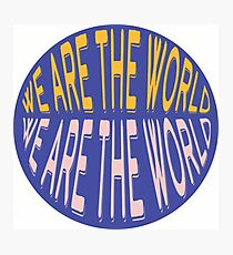 We Are The World Photographic Print