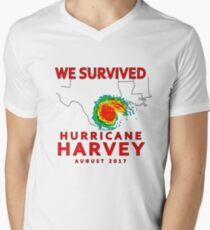 We Survived Hurricane Harvey 2017 Men's V-Neck T-Shirt