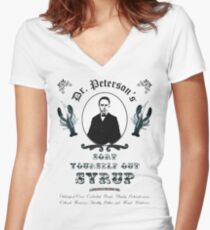 Sort Yourself Out Syrup Old Timey Jordan Peterson Meme Women's Fitted V-Neck T-Shirt