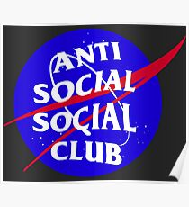 NASA Anti Social Social Club Poster