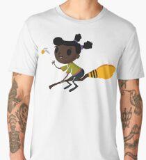 Retro Witch on a Broom (1) Men's Premium T-Shirt