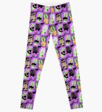 Halloween Bunny Pattern Leggings