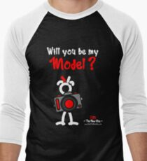 Red - The New Guy - Will you be my Model ? Men's Baseball ¾ T-Shirt
