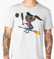 Retro Witch on a Broom (2) Men's Premium T-Shirt