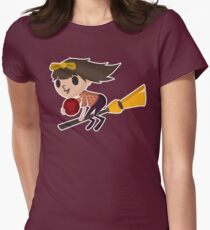Retro Witch on a Broom (3) T-Shirt