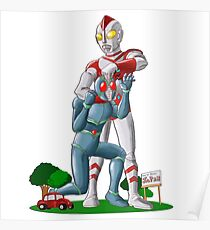 Ultraman funny Fhight Poster