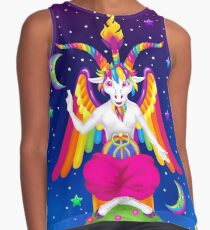 1997 Neon Rainbow Baphomet Sleeveless Top