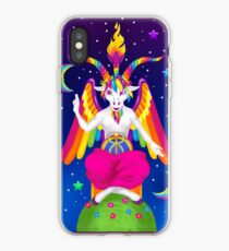Vinilo o funda para iPhone 1997 Neon Rainbow Baphomet