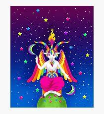 1997 Neon Rainbow Baphomet Photographic Print