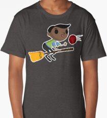 Retro Wizard on a Broom (2) Long T-Shirt