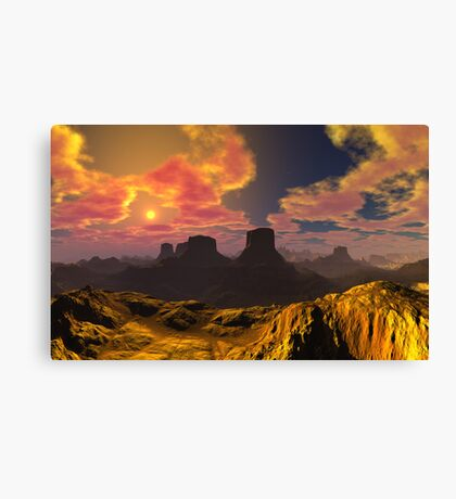 Temperature Rising Canvas Print