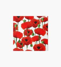 Poppy Pattern Art Board Print
