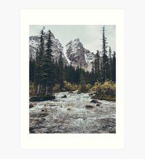 mountain rapids Art Print