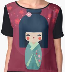 Greeting Geisha Girl Women's Chiffon Top