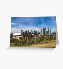 Calgary Skyline with Saddledome Greeting Card