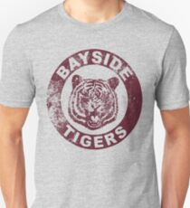 Bayside Tigers (Mascot Emblem - Distressed)  Unisex T-Shirt