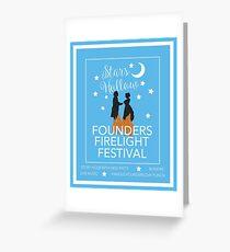 Founder's Firelight Festival Greeting Card
