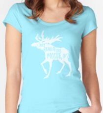 I Just Really Like Moose, OK? - Funny Moose Lover Design Women's Fitted Scoop T-Shirt