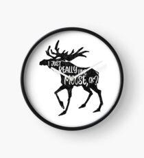I Just Really Like Moose, OK? - Funny Moose Lover Design Clock