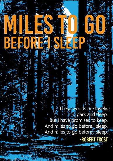 Meilen vor dem Schlafengehen - Robert Frost von art78