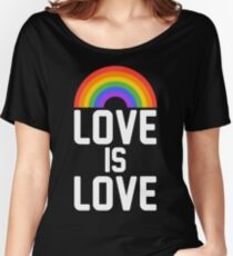 love is love rainbow Women's Relaxed Fit T-Shirt