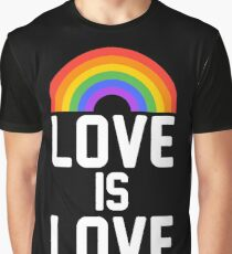 love is love rainbow Graphic T-Shirt