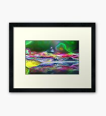 The after effects of Smoking GOOD weed Framed Print