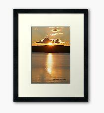 SUNSET OVER JOE GLOBE LAKE Framed Print