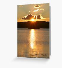 SUNSET OVER JOE GLOBE LAKE Greeting Card