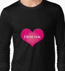 Pink I Love You Heart T-Shirt