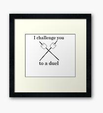 Marshmallow Challenge Framed Print
