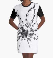Cannabis Noir Graphic T-Shirt Dress