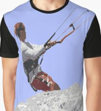 Kiteboarding Lets Go Fly A Kite Vector Graphic T-Shirt