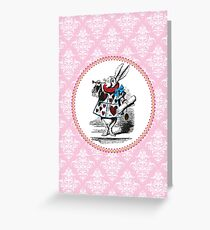Alice in Wonderland | The Herald of the Court of Hearts | White Rabbit Greeting Card