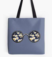 Glasses- daisy Tote Bag