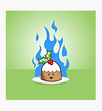 Flaming Pudding Photographic Print