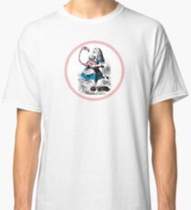 Alice in Wonderland | Alice trying to play croquet with a Flamingo and Hedgehogs Classic T-Shirt
