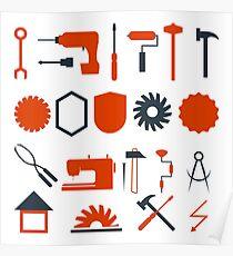 Tools Handyman Graphics Poster