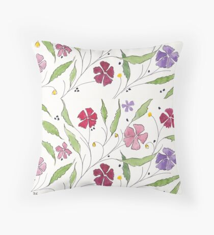 Summer Cosmos Throw Pillow