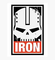 Warhammer 40k Inspired Iron Warriors IRON Photographic Print