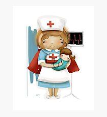 Die kleine Krankenschwester Fotodruck