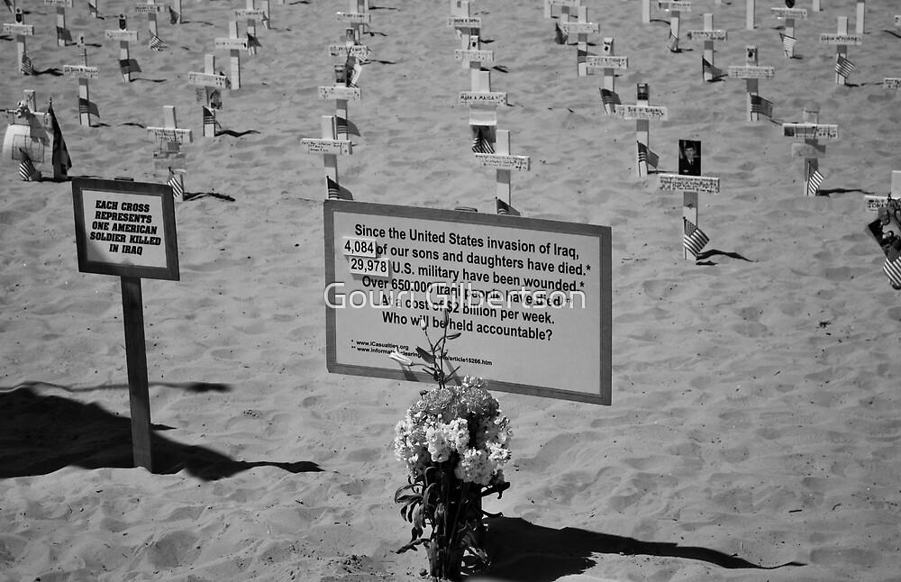 Santa monica beach memorial by Gowri Gilbertson