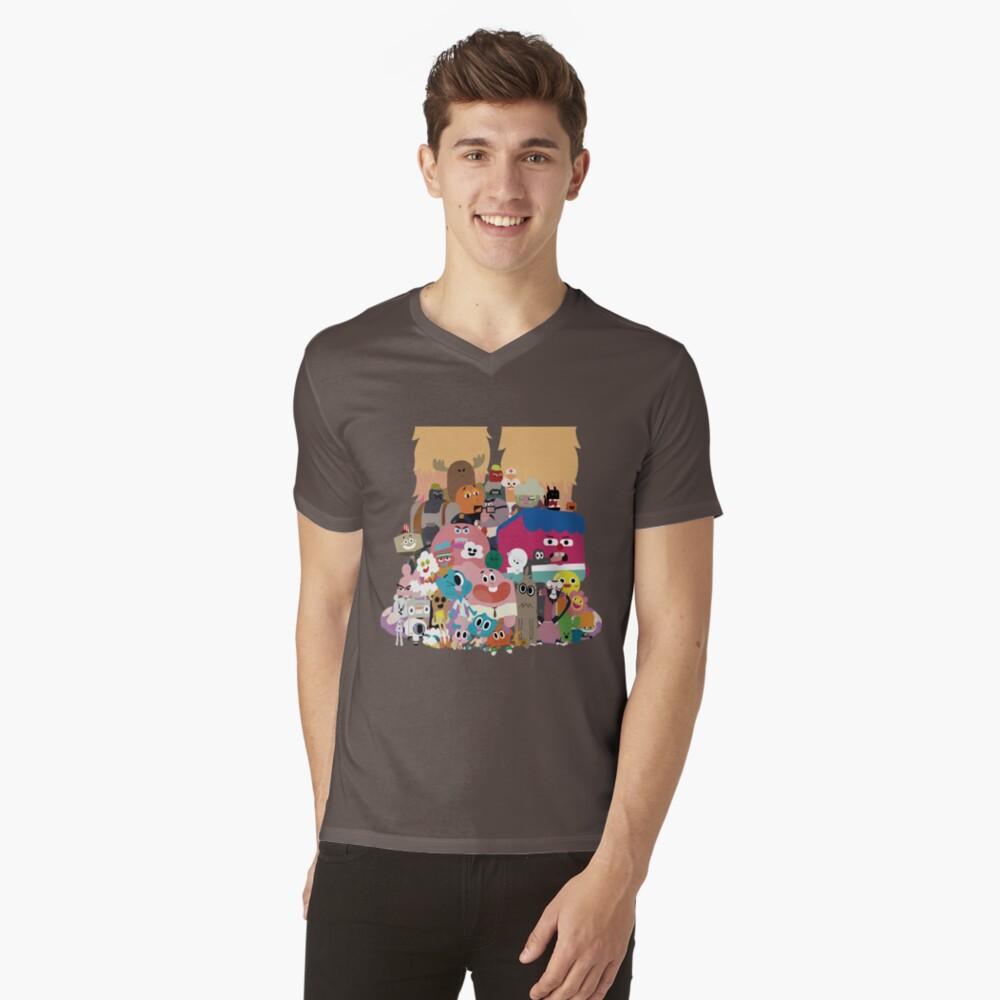 Die erstaunliche Welt von Gumball T-Shirt mit V-Ausschnitt