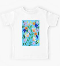 Flowers on blue Kids Clothes