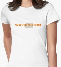 Washington - Red Women's Fitted T-Shirt