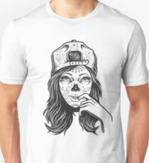 Zombie Girl , Vintage Tattoo  T-Shirt