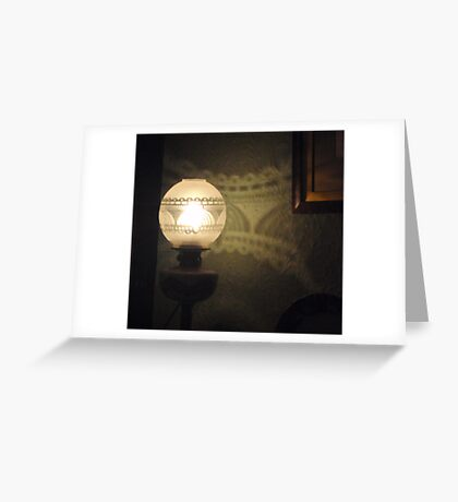 Lovely Lamp, Pretty Pattern Greeting Card